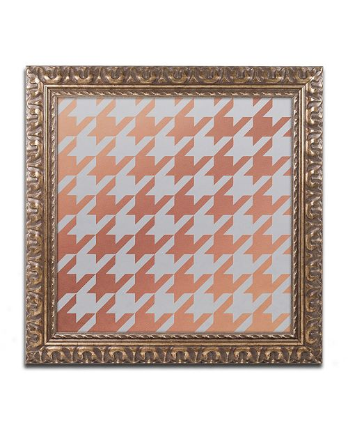"Trademark Global Color Bakery 'Xmas Houndstooth 4' Ornate Framed Art - 16"" x 16"""