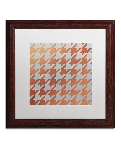 """Trademark Global Color Bakery 'Xmas Houndstooth 4' Matted Framed Art - 16"""" x 16"""""""