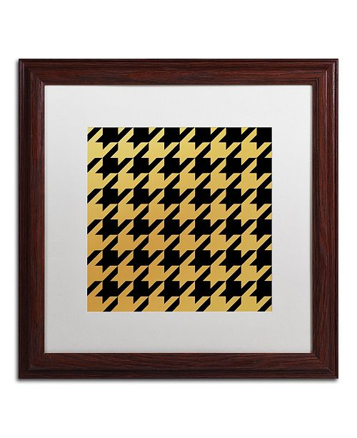 """Trademark Global Color Bakery 'Xmas Houndstooth 5' Matted Framed Art - 16"""" x 16"""""""