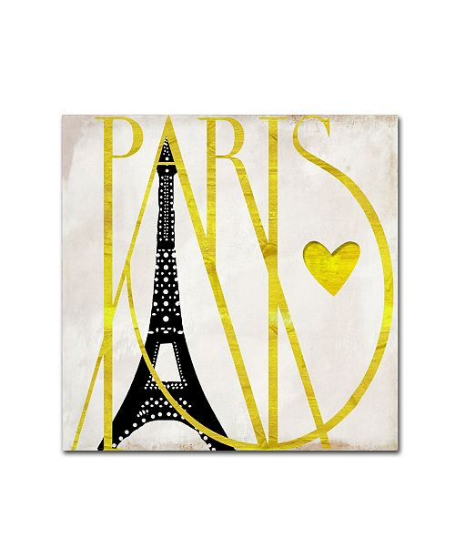 "Trademark Global Color Bakery 'I Love Paris' Canvas Art - 14"" x 14"""