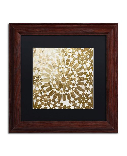 "Trademark Global Color Bakery 'Moroccan Gold I' Matted Framed Art - 11"" x 11"""