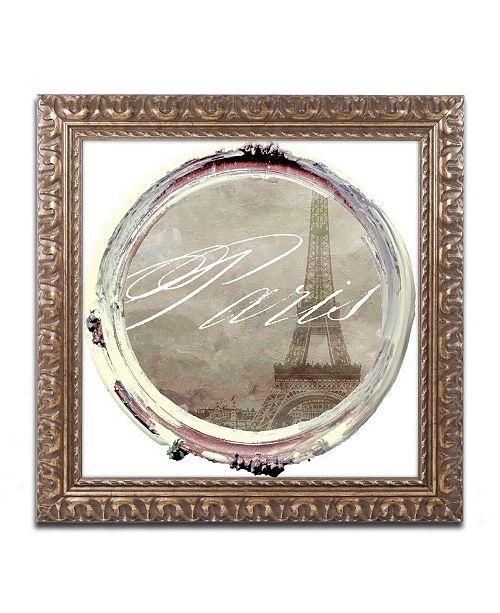 """Trademark Global Color Bakery 'Paris in Frames 3' Ornate Framed Art - 16"""" x 16"""""""