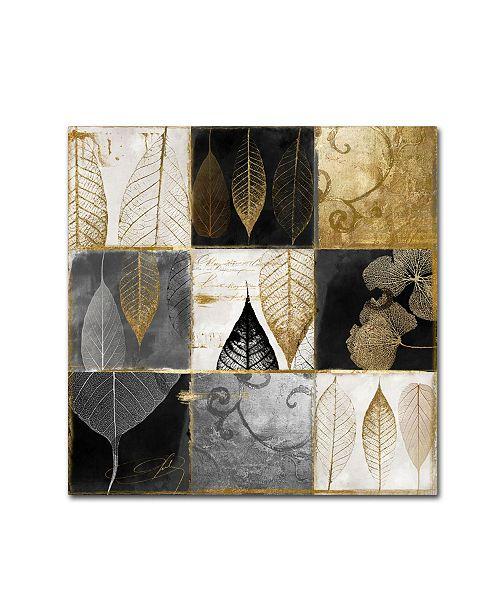 "Trademark Global Color Bakery 'Fallen Gold III' Canvas Art - 35"" x 35"""