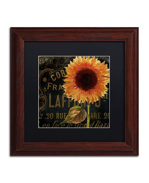 "Trademark Global Color Bakery 'Sunflower Salon II' Matted Framed Art - 11"" x 11"""