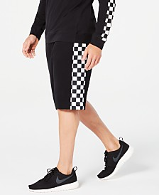 ID Ideology Men's Fleece Checkerboard Shorts, Created for Macy's