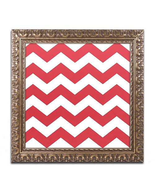 "Trademark Global Color Bakery 'Xmas chevron 8' Ornate Framed Art - 16"" x 16"""