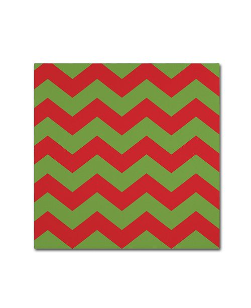 "Trademark Global Color Bakery 'Xmas chevron 9' Canvas Art - 35"" x 35"""