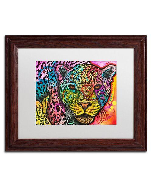 """Trademark Global Dean Russo 'Leopard' Matted Framed Art - 11"""" x 14"""""""