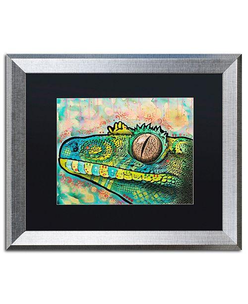 """Trademark Global Dean Russo 'Gecko' Matted Framed Art - 16"""" x 20"""""""