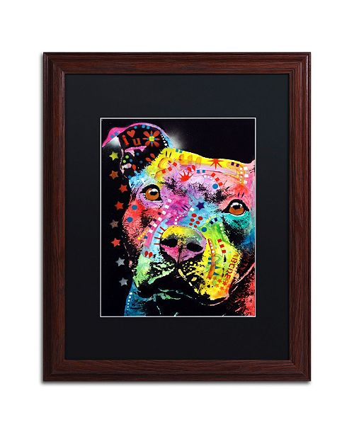 "Trademark Global Dean Russo 'Thoughtful Pit' Matted Framed Art - 16"" x 20"""