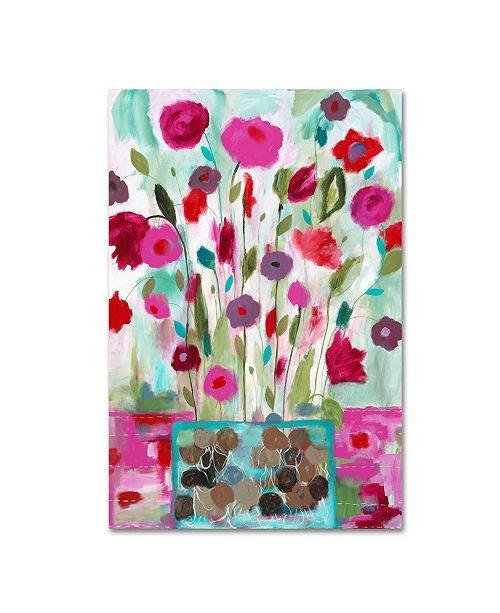 """Trademark Global Carrie Schmitt 'Winter Blooms' Canvas Art - 22"""" x 32"""""""