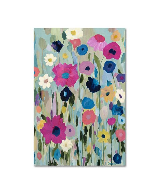 "Trademark Global Carrie Schmitt 'Wild Flowers' Canvas Art - 12"" x 19"""