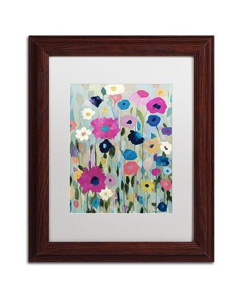 """Trademark Global Carrie Schmitt 'Wild Flowers' Matted Framed Art - 11"""" x 14"""""""