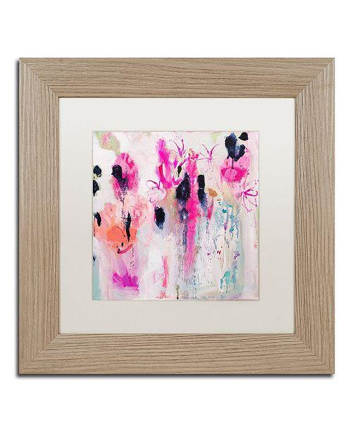 """Trademark Global Carrie Schmitt 'Unintentional Beauty' Matted Framed Art - 11"""" x 11"""""""