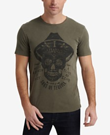 Lucky Brand Men's Textured Tequila Skull T-Shirt