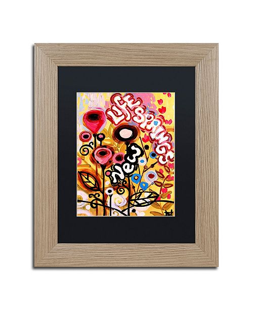 "Trademark Global Natasha Wescoat '104' Matted Framed Art - 11"" x 14"""