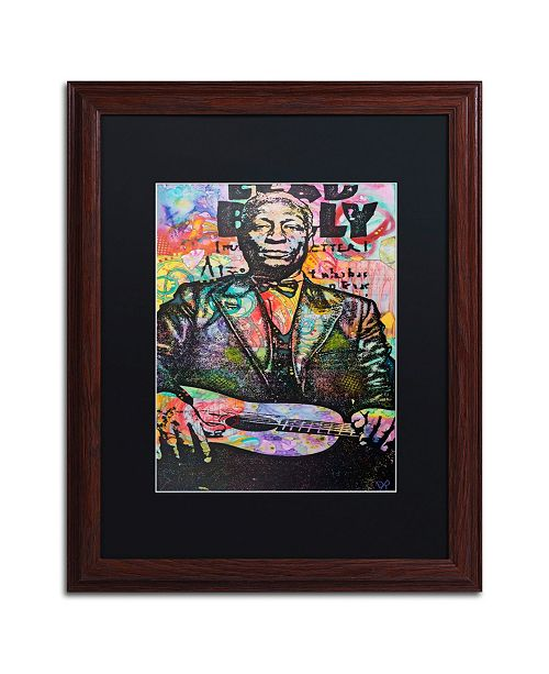 "Trademark Global Dean Russo 'Lead Belly' Matted Framed Art - 16"" x 20"""