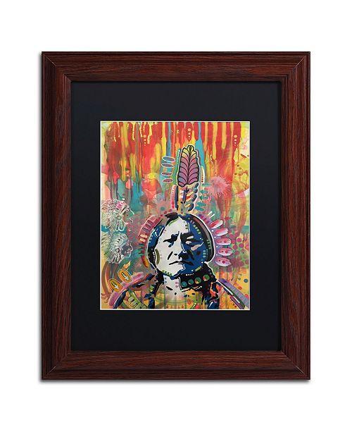 "Trademark Global Dean Russo 'Sitting Bull 1' Matted Framed Art - 11"" x 14"""