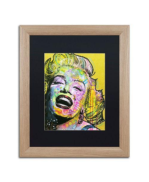"""Trademark Global Dean Russo 'Golden Marilyn' Matted Framed Art - 16"""" x 20"""""""