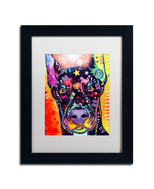 """Trademark Global Dean Russo 'Doberman' Matted Framed Art - 11"""" x 14"""""""