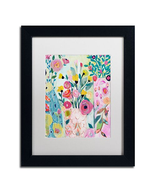 "Trademark Global Carrie Schmitt 'Vase of Flowers' Matted Framed Art - 11"" x 14"""