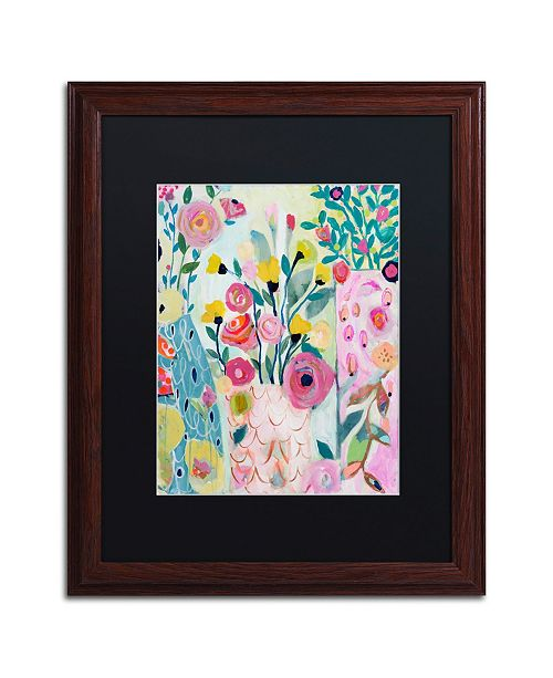 "Trademark Global Carrie Schmitt 'Vase of Flowers' Matted Framed Art - 16"" x 20"""