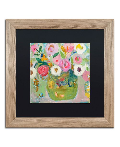 """Trademark Global Carrie Schmitt 'Sukhasana' Matted Framed Art - 16"""" x 16"""""""