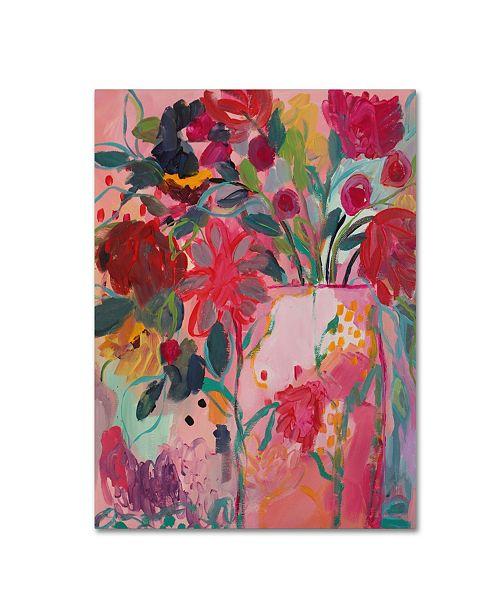 """Trademark Global Carrie Schmitt 'May Flowers' Canvas Art - 35"""" x 47"""""""