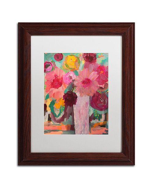 "Trademark Global Carrie Schmitt 'Surrender Softly' Matted Framed Art - 11"" x 14"""