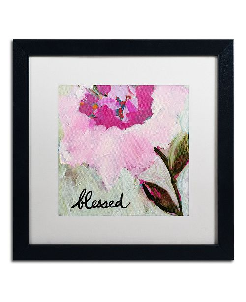 "Trademark Global Carrie Schmitt 'Blessed' Matted Framed Art - 16"" x 16"""