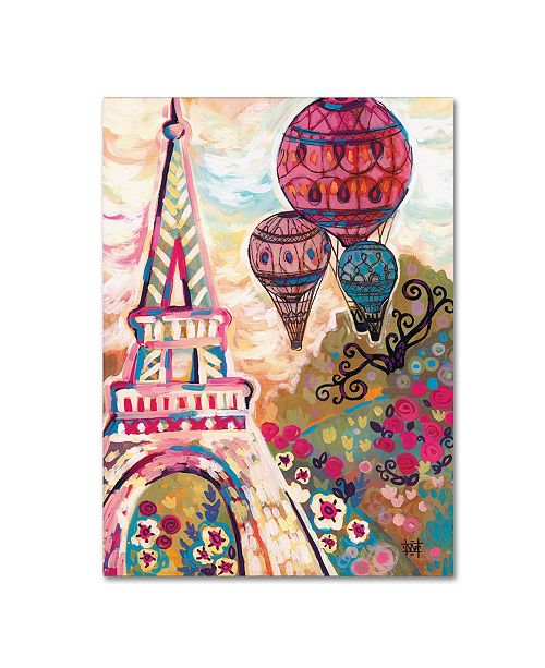 "Trademark Global Natasha Wescoat 'Ballons Sur Paris' Canvas Art - 35"" x 47"""