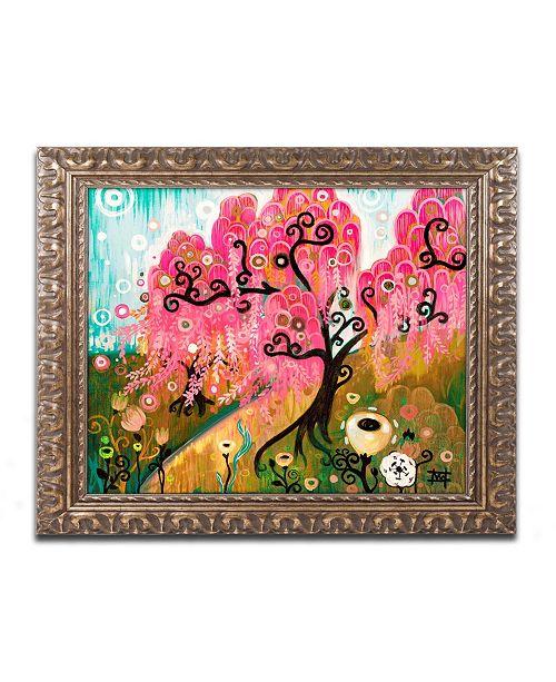 """Trademark Global Natasha Wescoat 'Cherry Blossom Willow' Ornate Framed Art - 16"""" x 20"""""""