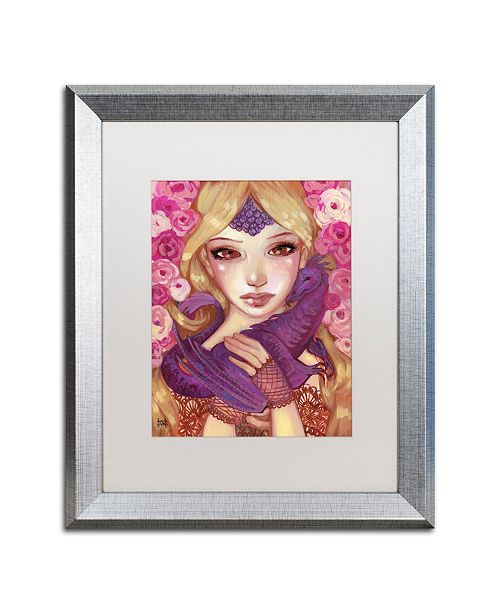 "Trademark Global Natasha Wescoat 'Dragon Kin' Matted Framed Art - 16"" x 20"""