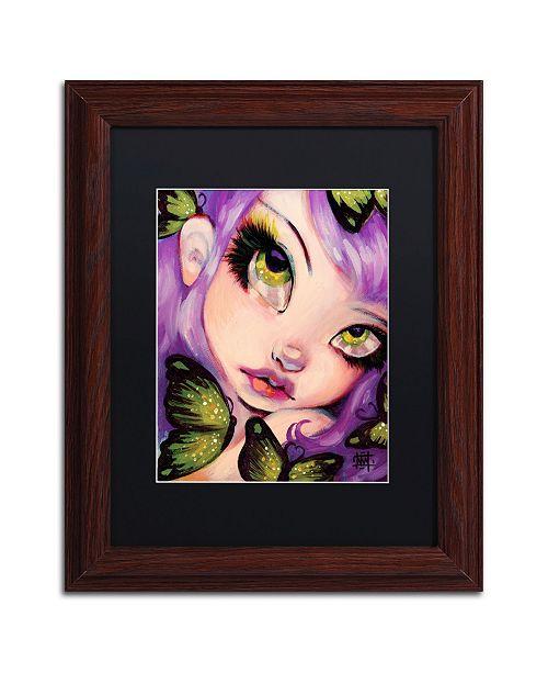 """Trademark Global Natasha Wescoat 'Green Eyed Violet' Matted Framed Art - 11"""" x 14"""""""