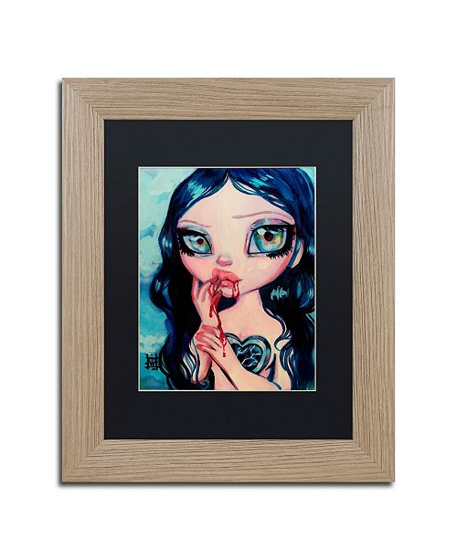 "Trademark Global Natasha Wescoat 'Just A Taste' Matted Framed Art - 11"" x 14"""
