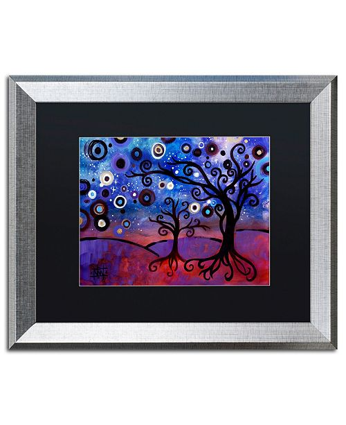 "Trademark Global Natasha Wescoat 'Star Lit Dream' Matted Framed Art - 16"" x 20"""