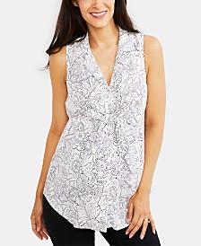 Motherhood Maternity Tie-Front Shirt