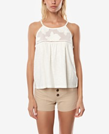 O'Neill Juniors' Cotton Embroidered Tank Top
