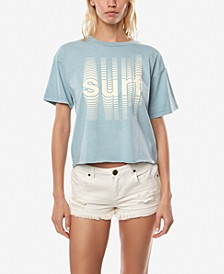 Juniors' Cotton Surf Graphic-Print T-Shirt