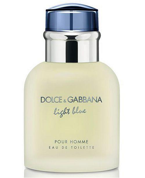 Dolce & Gabbana DOLCE&GABBANA Men's Light Blue Pour Homme Eau de Toilette Spray, 1.3-oz.