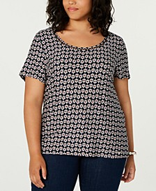 Plus Size Daisy-Print Top, Created for Macy's