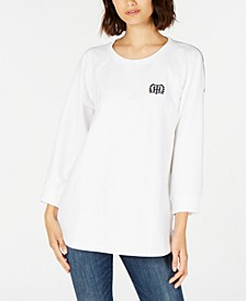 Striped-Back Logo Top, Created for Macy's