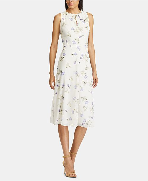 American Living Floral-Print Sleeveless Georgette Midi Dress