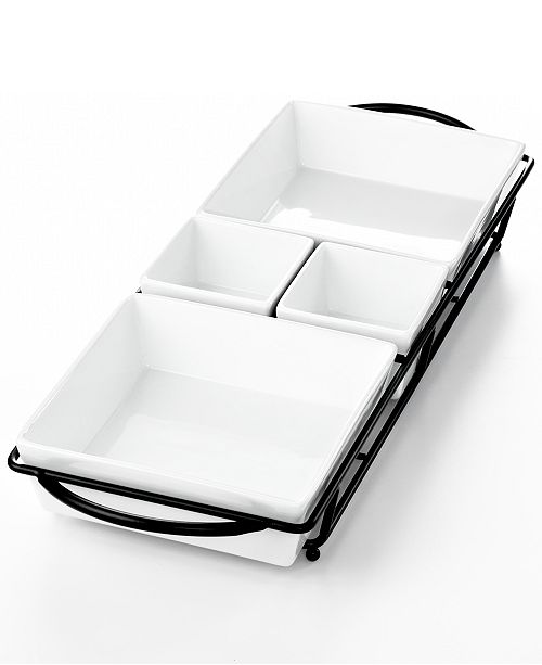Whiteware Serveware 5pc Rectangular Server, Created for Macy's