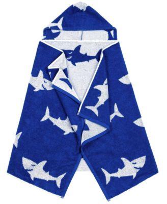 Linum Kids 100% Turkish Aegean Cotton Hooded Easy Bath and Beach Wrap for Boys