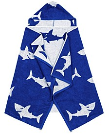 Linum Kids 100% Turkish Aegean Cotton Hooded Easy Bath and Beach Wrap for Boys