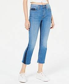 Juniors' Contrast Pieced Kick-Flare Jeans, Created for Macy's