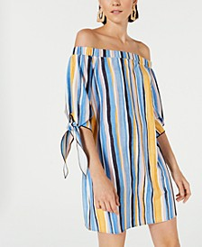 Off-The-Shoulder Tie-Sleeve Dress, Created for Macy's