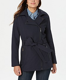 Asymmetrical Hooded Raincoat
