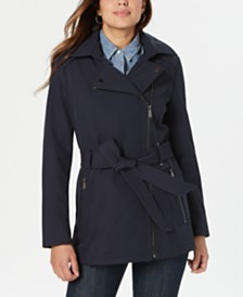 BCBGeneration Asymmetrical Hooded Raincoat